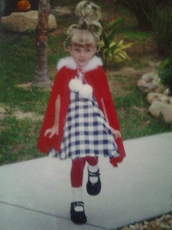 Girls Cindy Lou Who Costume The grinch who stole christmas halloween Theatre