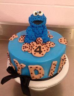 Cookie Monster Cake Motivtorten Leckereien Tortendeko
