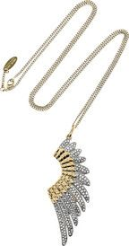ROBERTO CAVALLI  Gold-plated Swarovski crystal wing necklace. Beautiful.