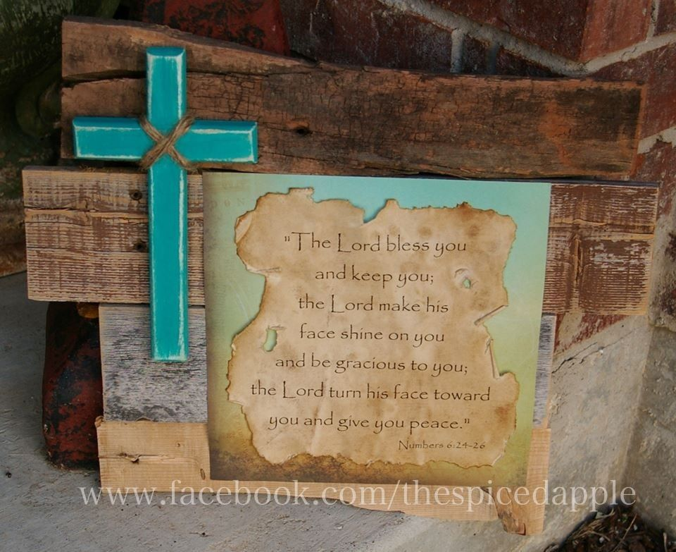Rustic Wooden Wall Decor With Cross And Bible Verse Made By The