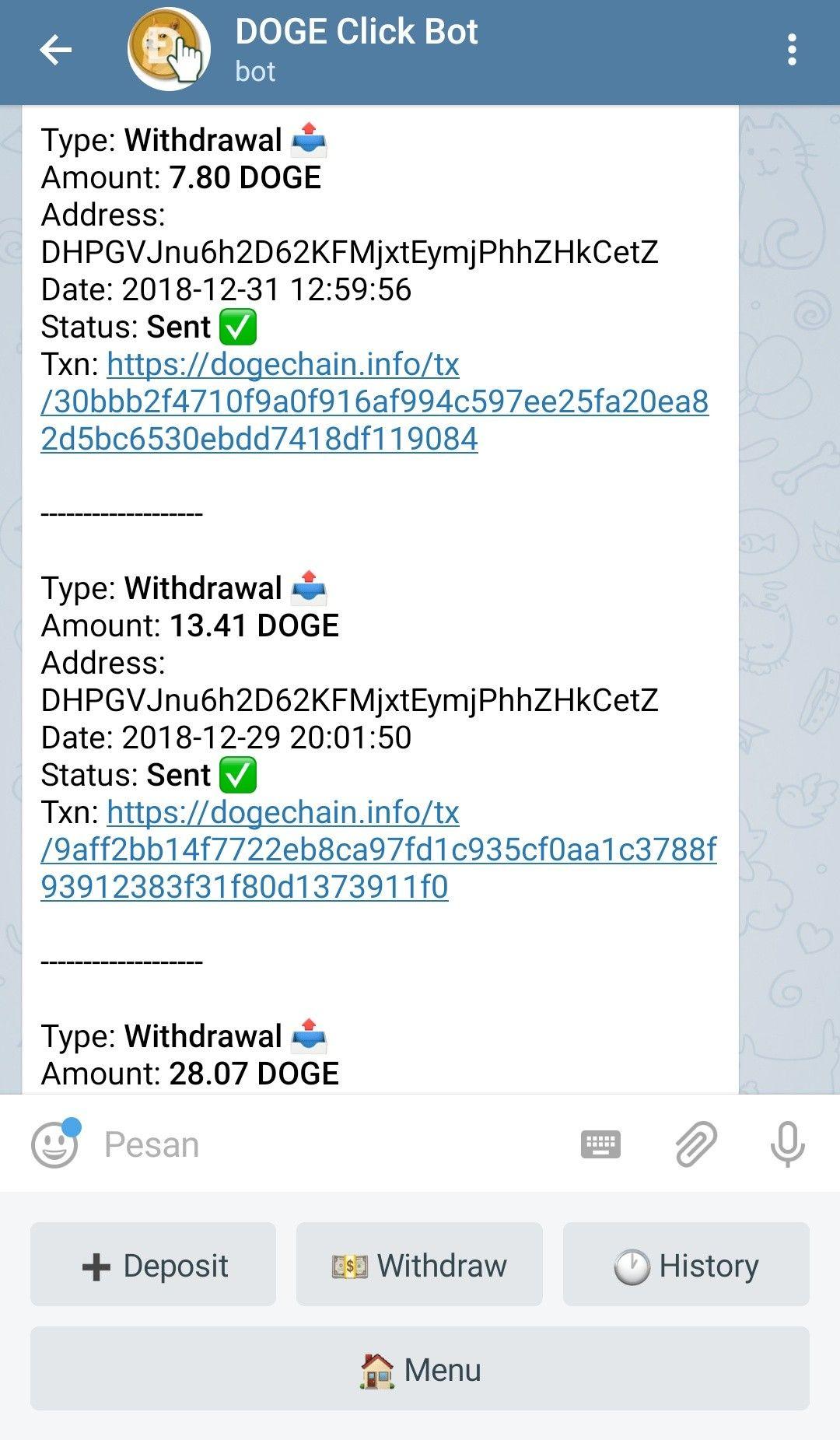 legit dogecoin with telegram script | Cryptocorner | Script