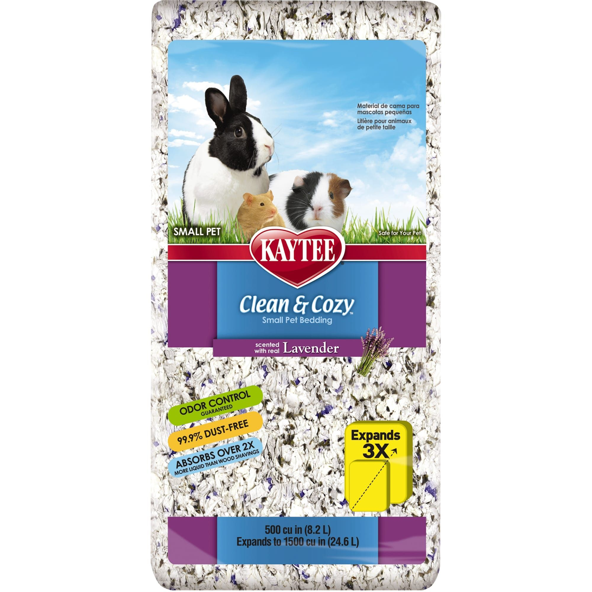 Kaytee Clean & Cozy Lavender Scented Small Animal Bedding, 24.6 Liters (1500 cu. in.)