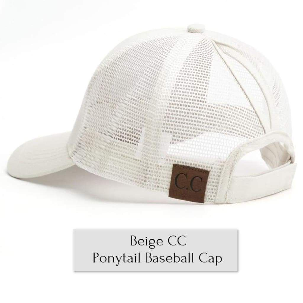 c58ec5a2a20 CC Glitter Ponytail Baseball Cap Women Messy Bun