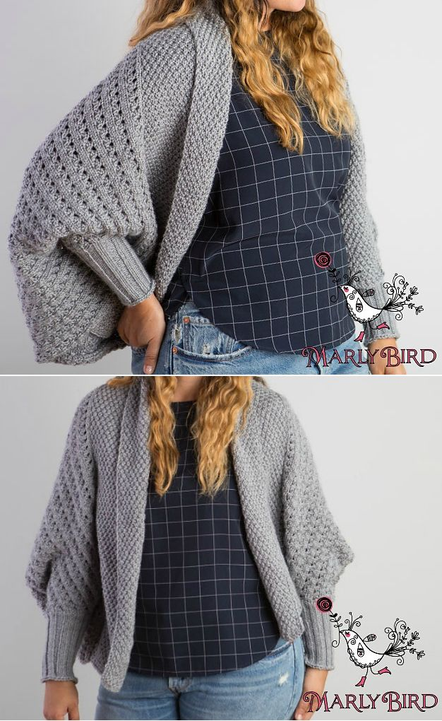 aa46a92e1 Knitting Pattern for Cocoon Cardigan Free with Free Trial - Designed by  Marly Bird