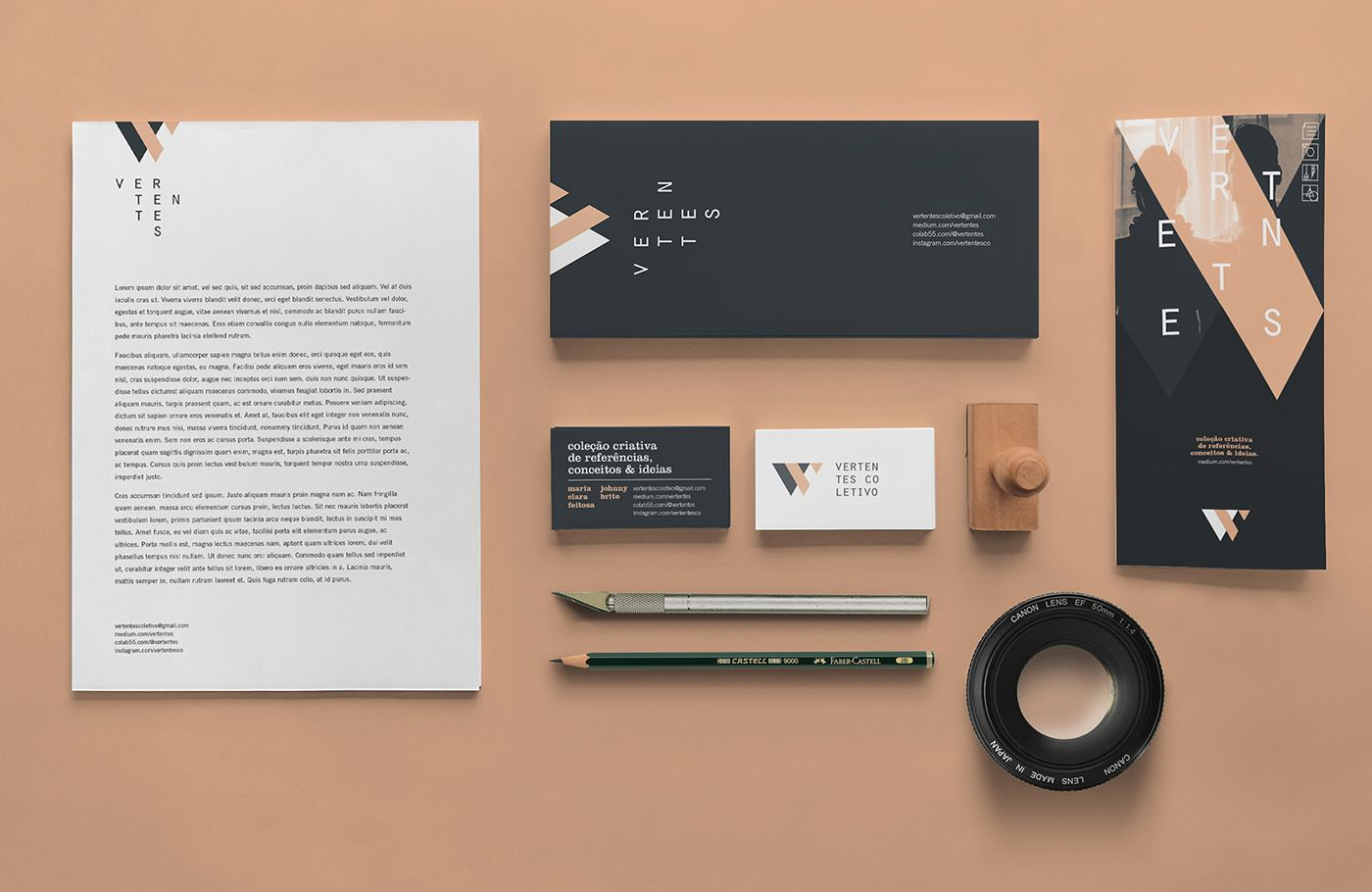 Brand Identity for Vertentes Coletivo a collab