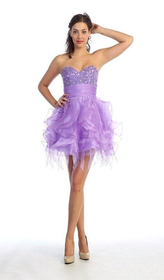 TODA MUJER ES BELLA: Fotos de vestidos de 15 años corto y lila ...