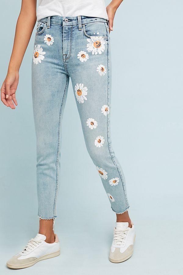 Pin De Debanhi Rubio En Jeans Pintados A Mano En 2021 Manualidades Ropa Pantalones De Moda Ropa Pintada