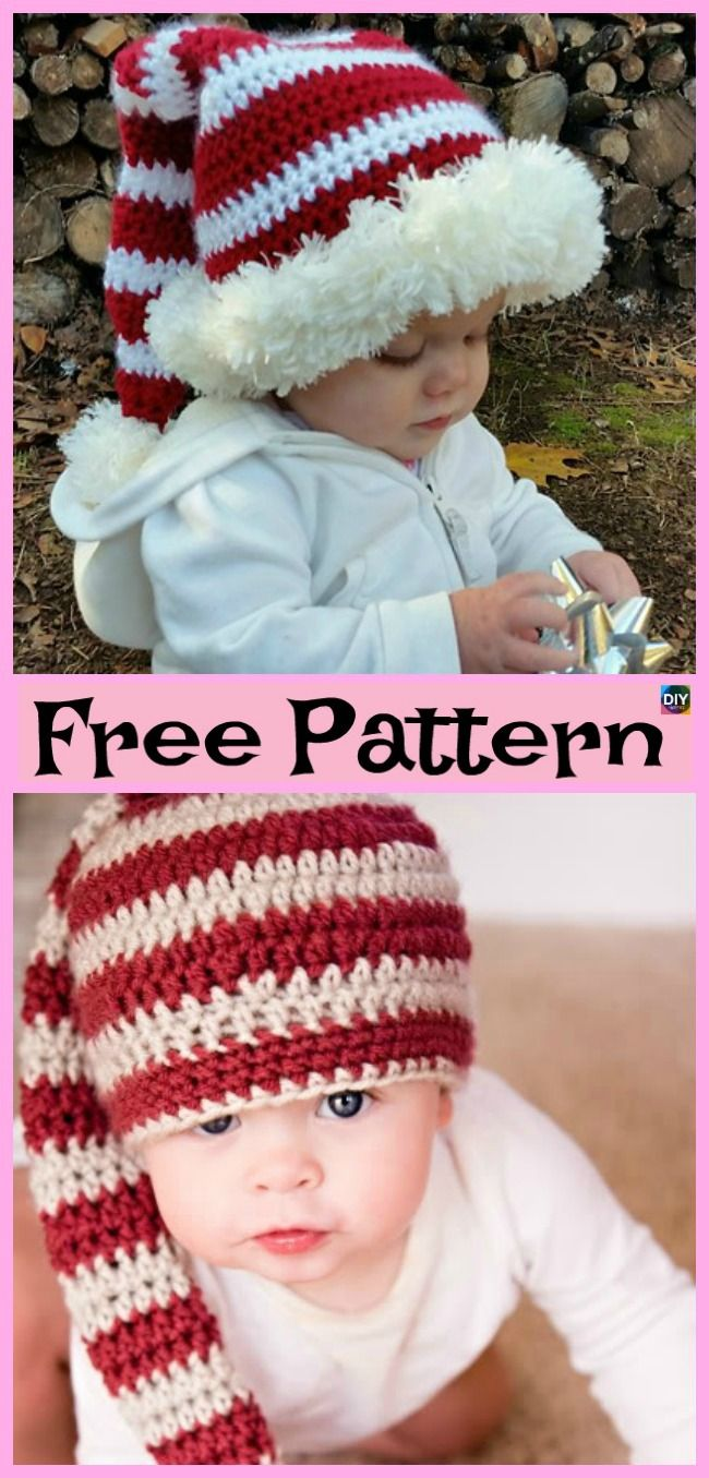 10 Crochet Christmas Hats - Free Patterns #grinchscarfcrochetpatternfree