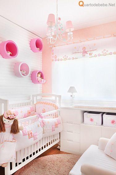 decoração de quarto de bebê salmão