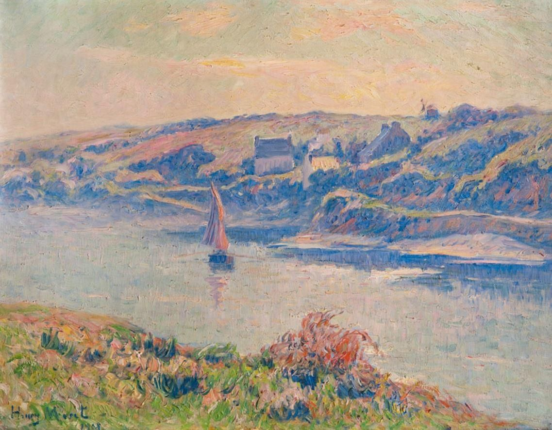 "Henry Moret (1856-1913), ""Doëlan, brumes du matin"" (1908) | Brumes,  Peinture, Art"