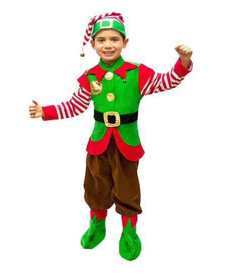 Green Elf Dress Up Set Toddler Boys Deguisement Lutin