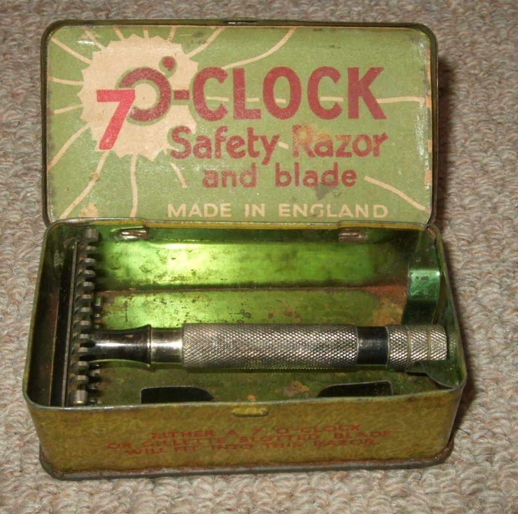 VINTAGE 7 O'CLOCK DOUBLE EDGE SAFETY RAZOR Wet shaving