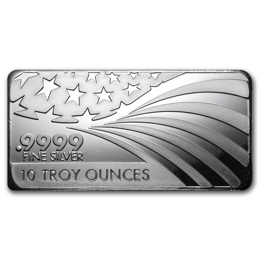 Apmex 10 Oz Silver Bar For Sale 9999 Fine Silver Rmc Silver Bars Apmex Silver Bullion