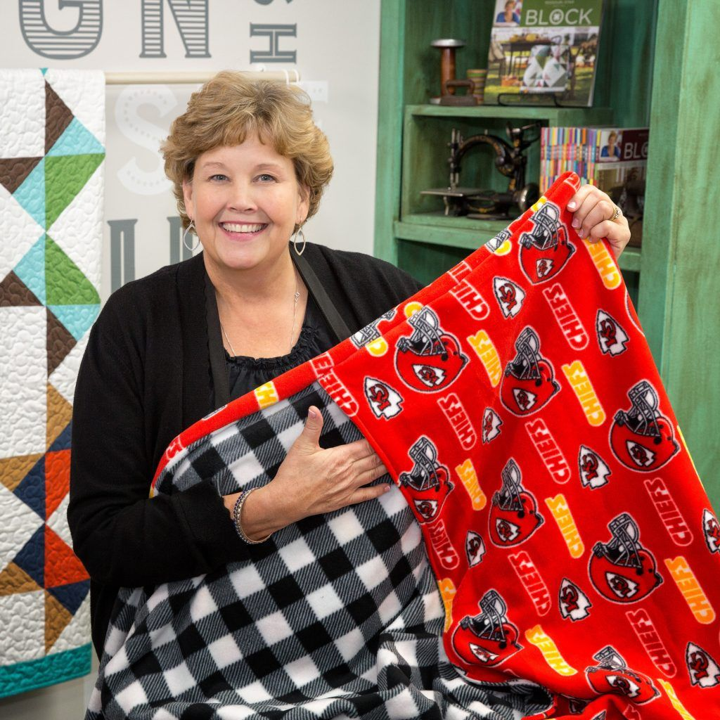 Jenny shows a unique way to create a fleece blanket that will always