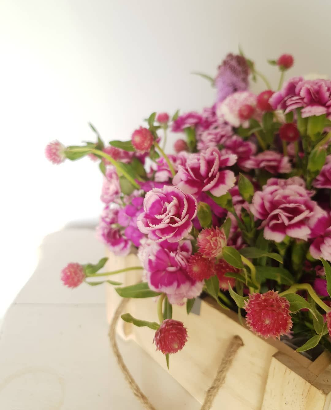 Elements Rare Tinted Carnations And Baby Gomphrena Bloombombs Nofliter Mumbai Pune Florist Floralco In 2020 Flower Company Wedding Flowers Floral Decor