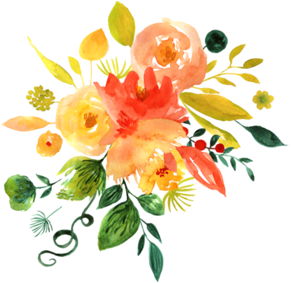 Open Full Size Ftestickers Watercolor Flowers Orange Yellow Yellow Watercolor Flowers Png Download Transparent Png Image And Share Seekpng With Friends