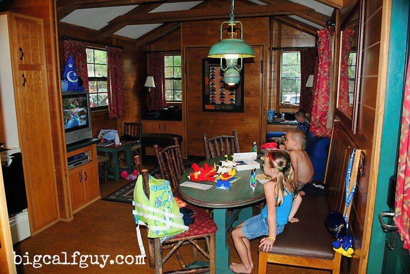 cabin inside,Family, WDW, Autism, Autism awareness, trip, disney, vacation, asd, www.bigcalfguy.com
