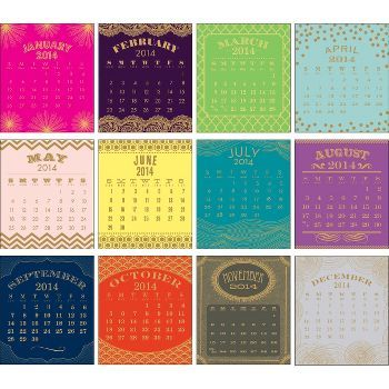 2014 Paper Source Foil Desk Calendar (Paper Source)