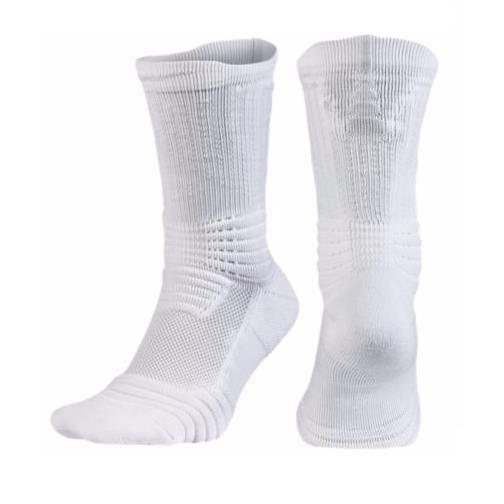 Nike Mens Elite Versatility Crew Basketball White Socks 12 ...