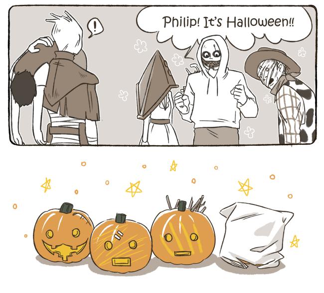 化作春泥好過冬 • First Halloween!! Horror movie art