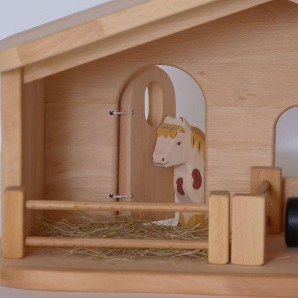 weihnachtskrippe bauernhof holzspielzeug 252 3. Black Bedroom Furniture Sets. Home Design Ideas