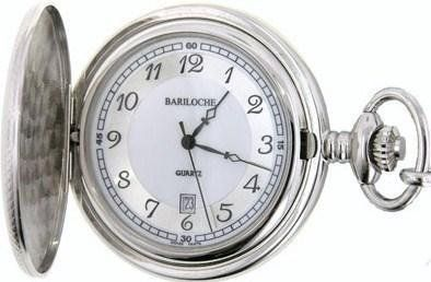 e7a4fc663 Mens Stainless Pocket Watch by Bariloche Pocket Watches 8606CP-IS1  Bariloche Pocket Watches. $55.00. Hardened Mineral Crystal. Analog Display.