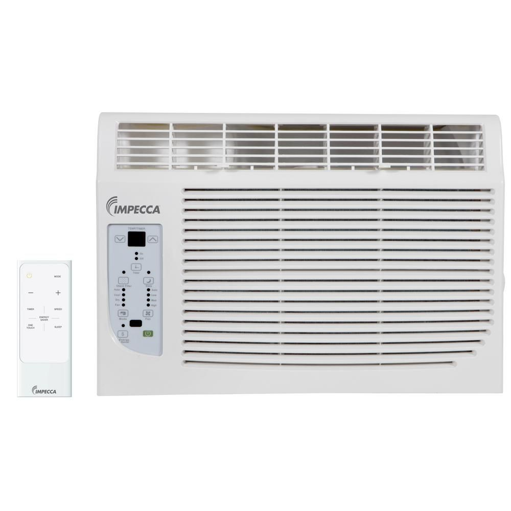 Impecca 8 000 Btu 115 Volt Window Air Conditioner With Remote Iwa08 Kr15 Window Air Conditioner Window Unit Remote