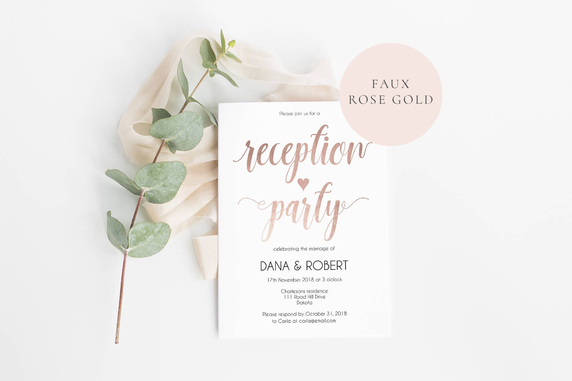 Create your own beautiful Wedding reception invitation at home ...