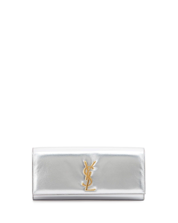 b3133a7ebb Yves Saint Laurent Cassandre Metallic Logo Clutch Bag