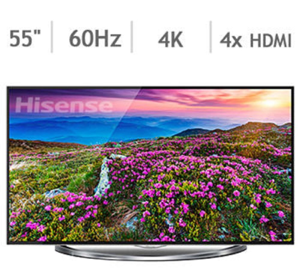 "Hisense 55"" Class 4K Smart LED Ultra HDTV 55T880UW (With"