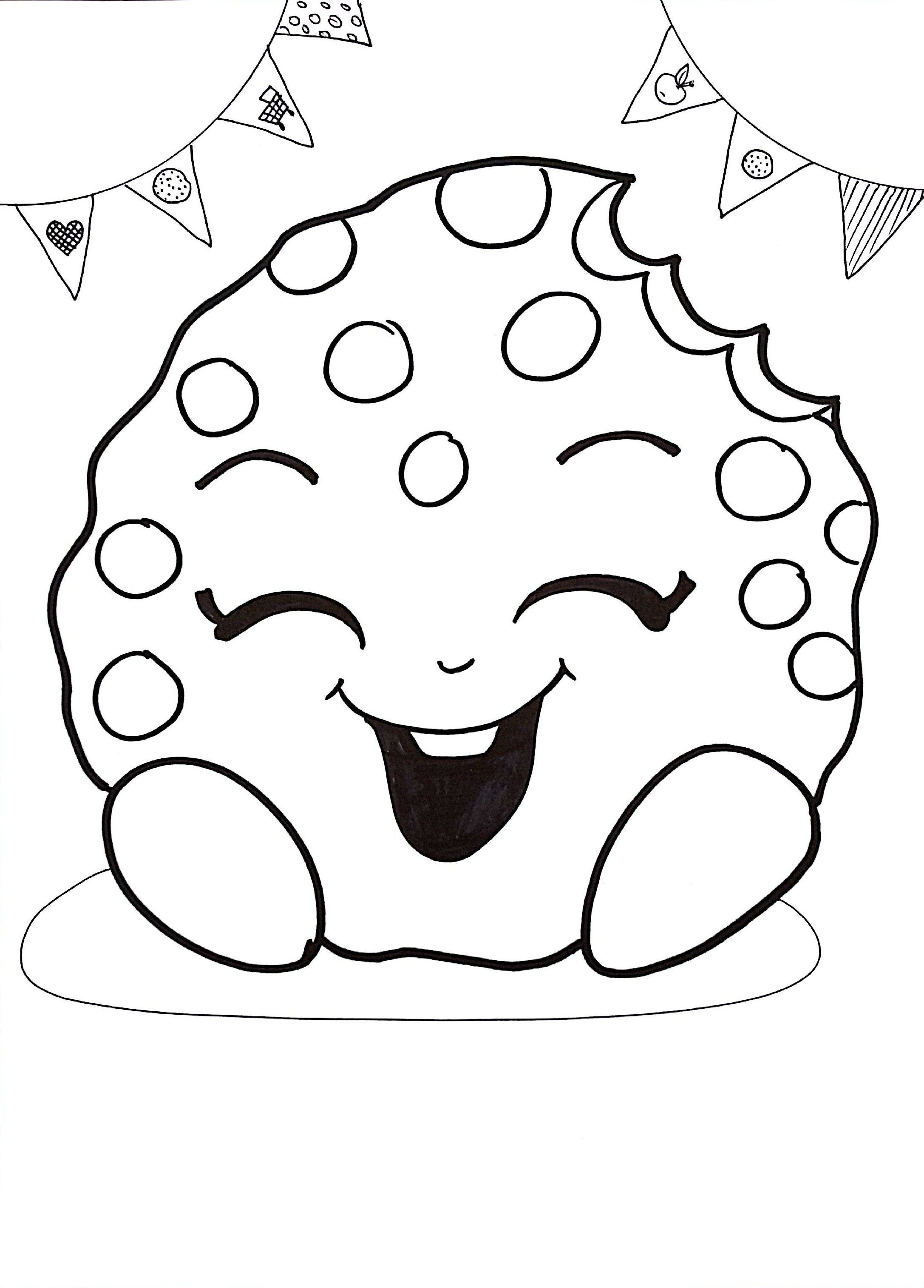 6 Shopkins Coloring Sheets Instant Download Pdf Birthday