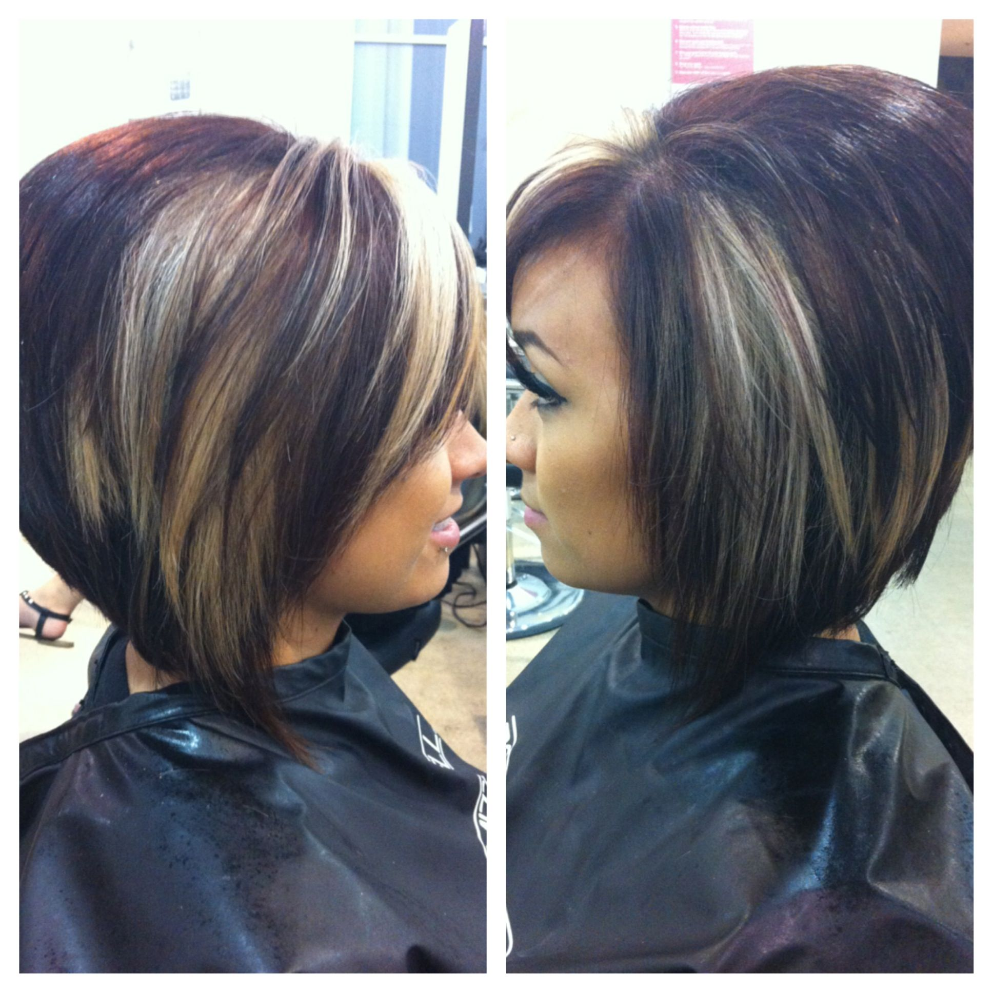 Warm Mahogany Brown With Peekaboos Hair Pinterest Hair