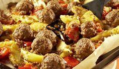 Ofen-Gemüse mit Hackbällchen #kartoffelnofen