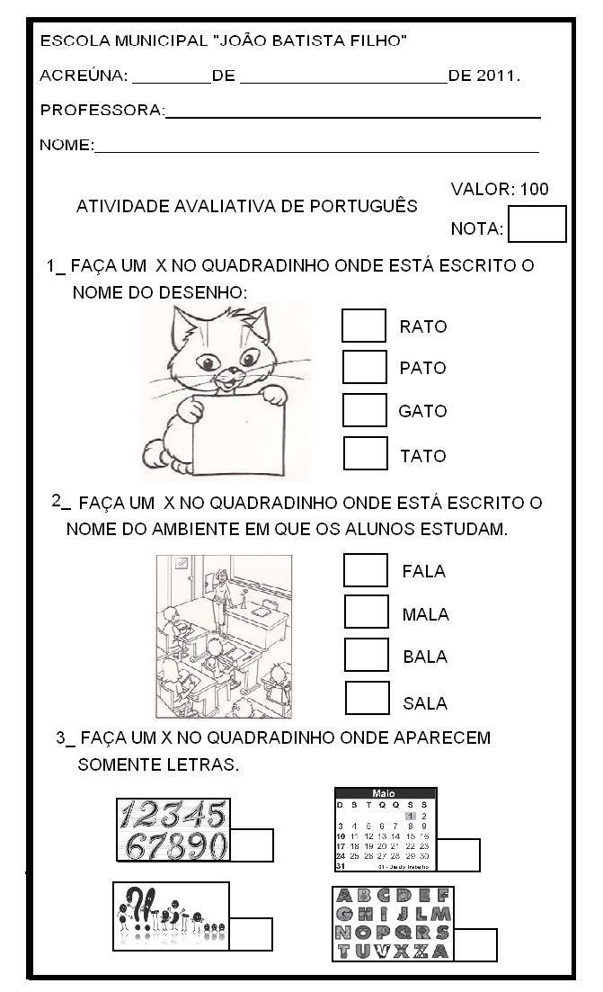 Pin Em Ficha De Leitura