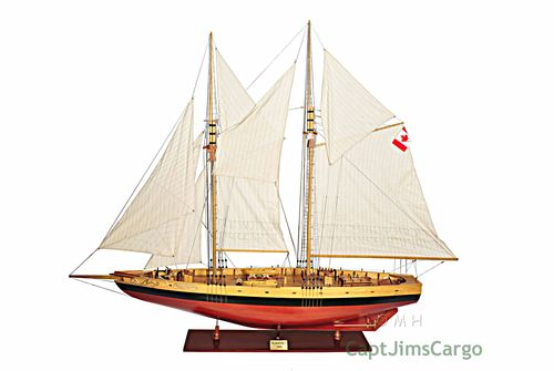 Bluenose II Fully Assembled Boat Model Display Home Decor