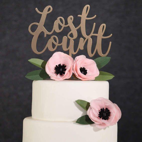 Birthday Cake TopperGold Lost Count Cake TopperGold Birthday Cake
