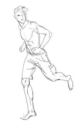Running Pose By George G Running Drawing Art Reference Poses Male Figure Drawing