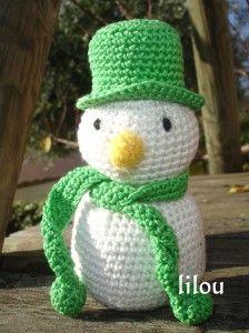 Bonhomme neige crochet diy modele tuto gratuit diy tuto - Bonhomme de neige au crochet ...
