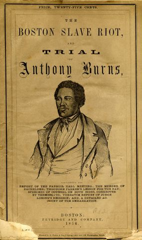 006 Boston Slave Riot 1854 pamphlet about the trial of
