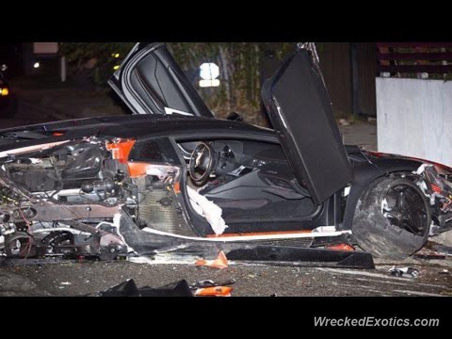 Lamborghini Aventador Crashed In Beverly Hills Ca Car Crash