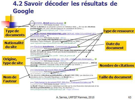 décoder résultats google | Éducation aux médias, Recherche ...
