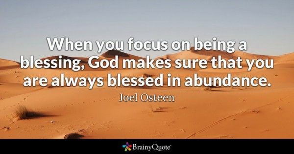 Blessing Quotes Kelly Clarkson Quotes  Joel Osteen Abundance And Blessings