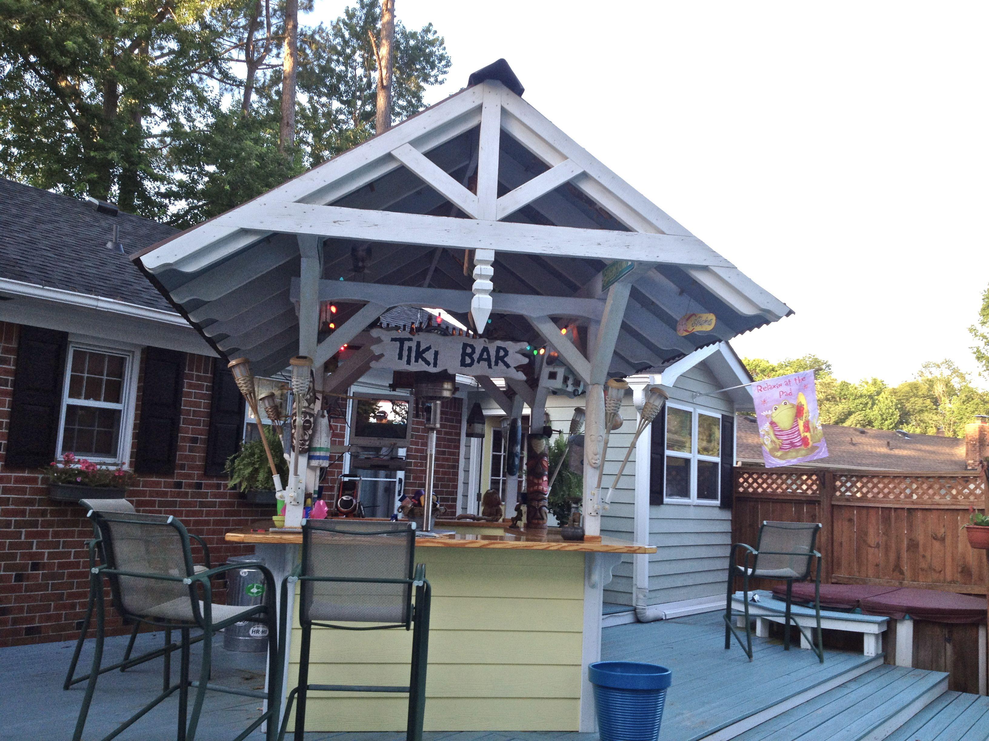 2015 13 Backyard Tiki Bar Ideas On Backyard Tiki Bar ... on Tiki Bar Designs For Backyard id=92788