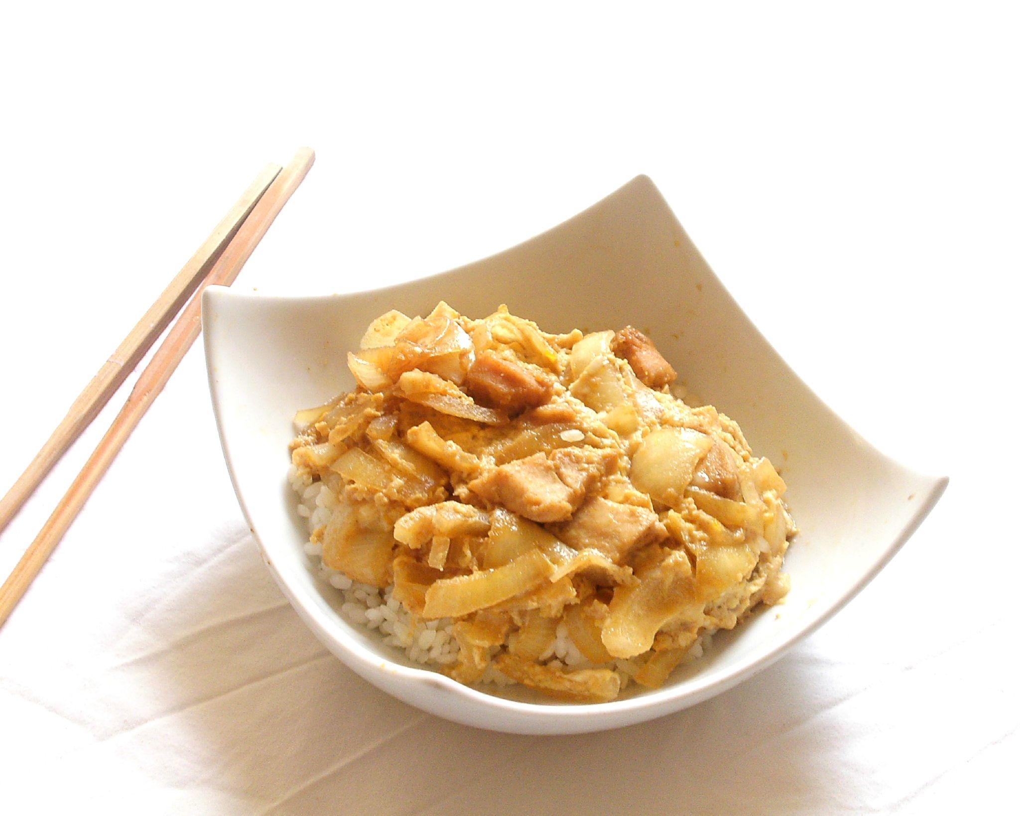 recette japonaise de l 39 oyakodon 120 street cook riz. Black Bedroom Furniture Sets. Home Design Ideas