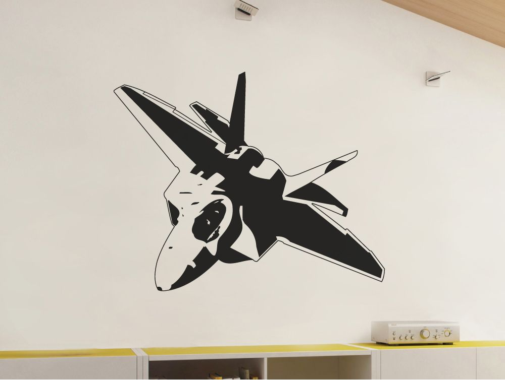Fighter Jet Wall Decal Plane Wall Sticker Airplane Wall Boys Wall Stickers Airplane Wall Art