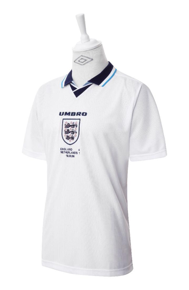 Umbro England 1996 Home Shirt   Shirts, Umbro, Football outfits