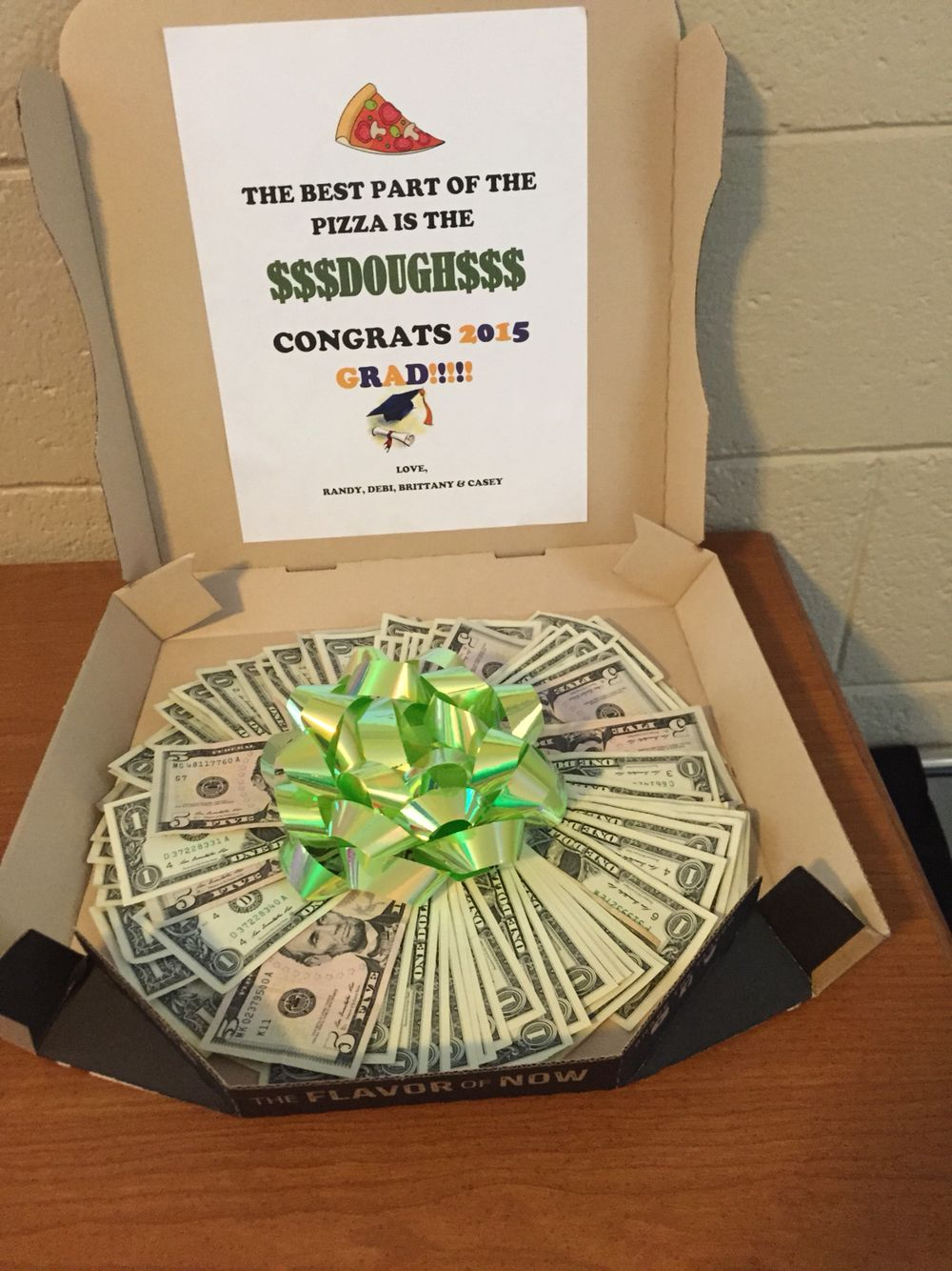 An unused pizza box makes a great box to give money to a for Making crafts for money