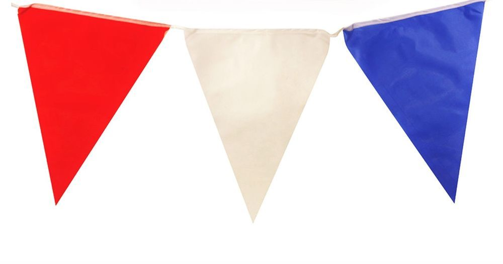 10m with 24 Flags Red White /& Black Triangular Flag Bunting