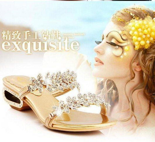 US $65.00 / piece Aliexpress.com : Buy Shiny crystal elegant women slippers, fashion wedges sandals from Reliable Shiny crystal elegant women slippers suppliers on Shanghai Xialin shoes Co., Ltd  http://www.aliexpress.com/store/813419