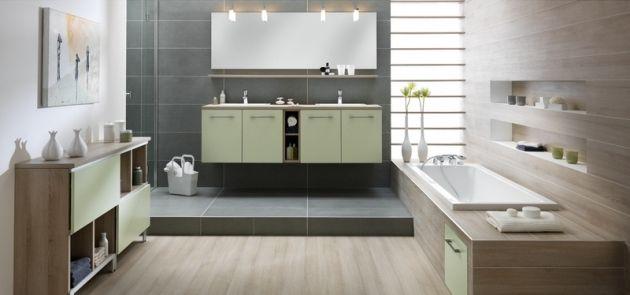 Salle de bain Loft Soft Mint - Schmidt Salle de bains   Bathroom